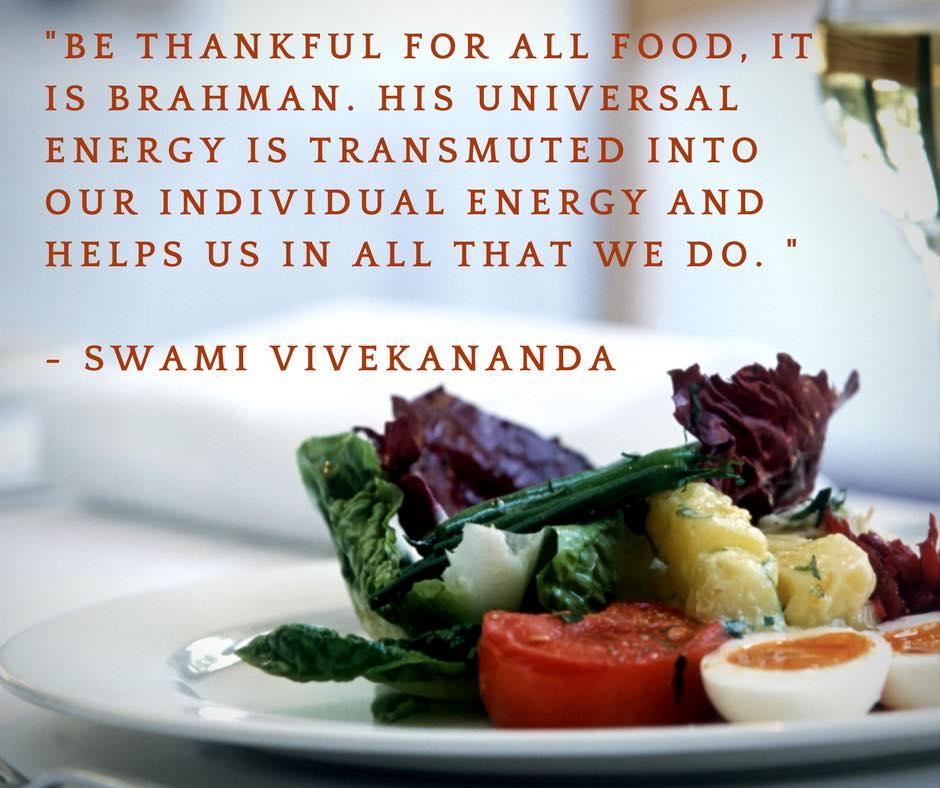 Swami Vivekananda's Quotes On Food