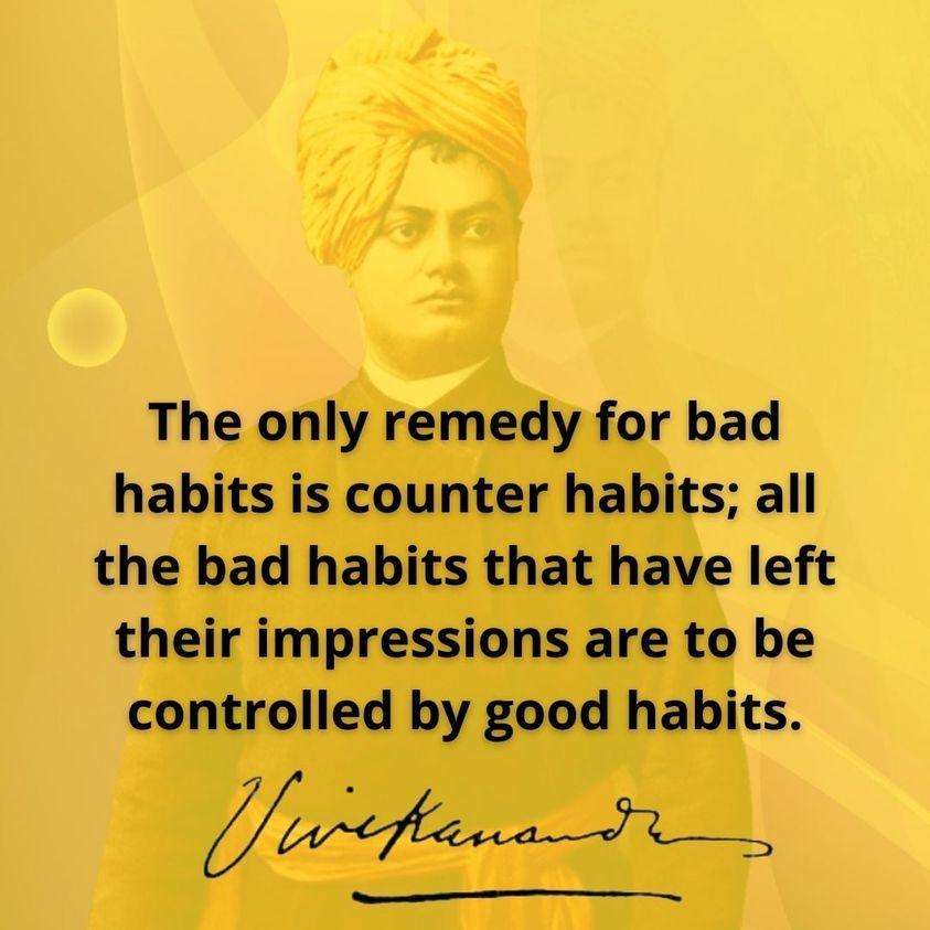 Swami Vivekananda's Quotes On Habit