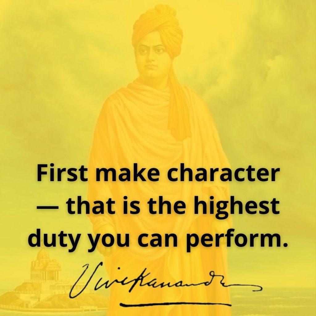 Swami Vivekananda's Quotes On Character