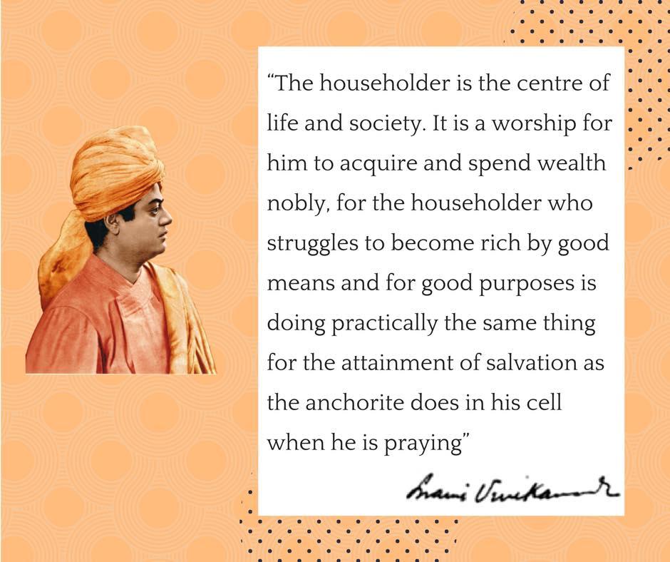 Swami Vivekananda's Quotes On Householder's life