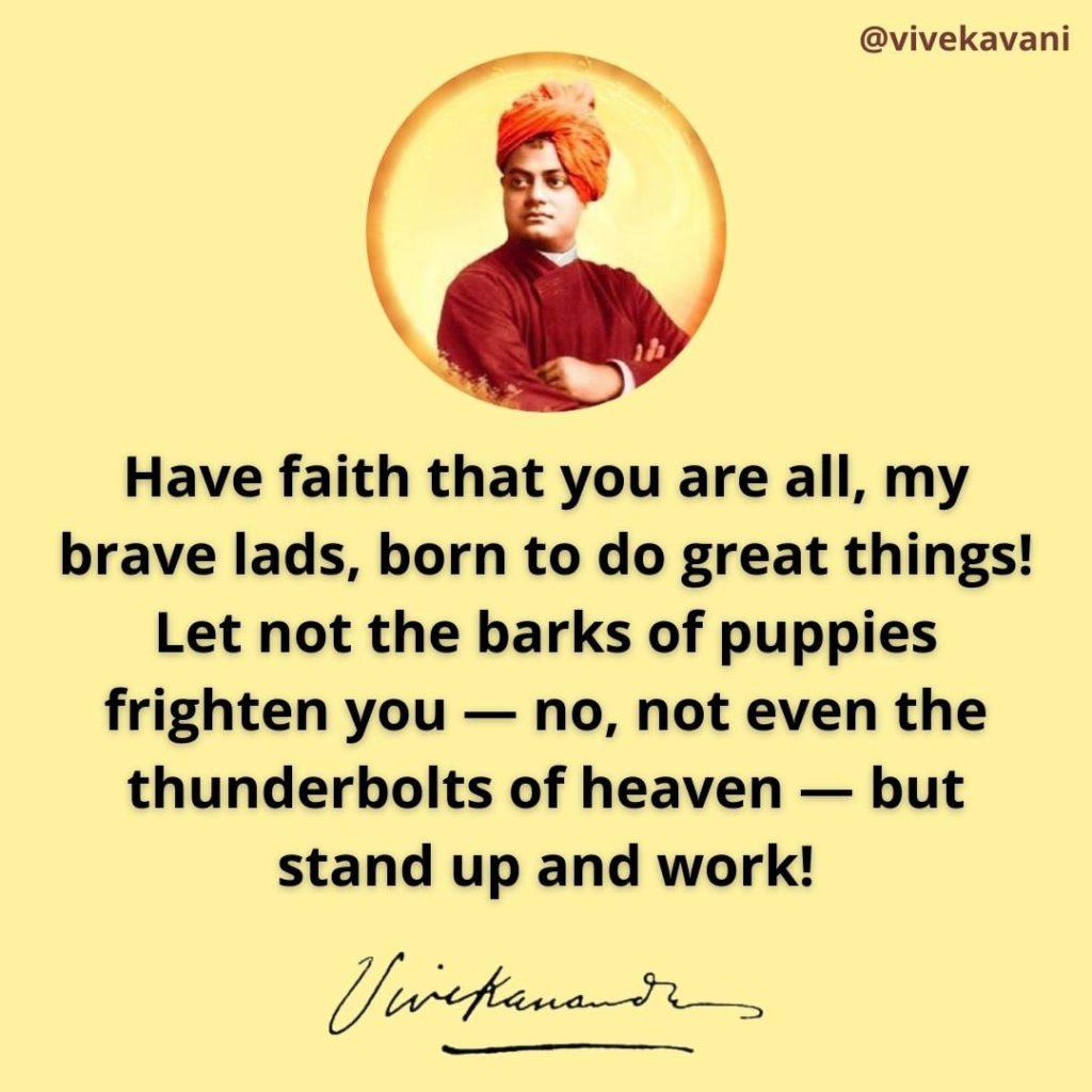 Swami Vivekananda Quotes on Faith