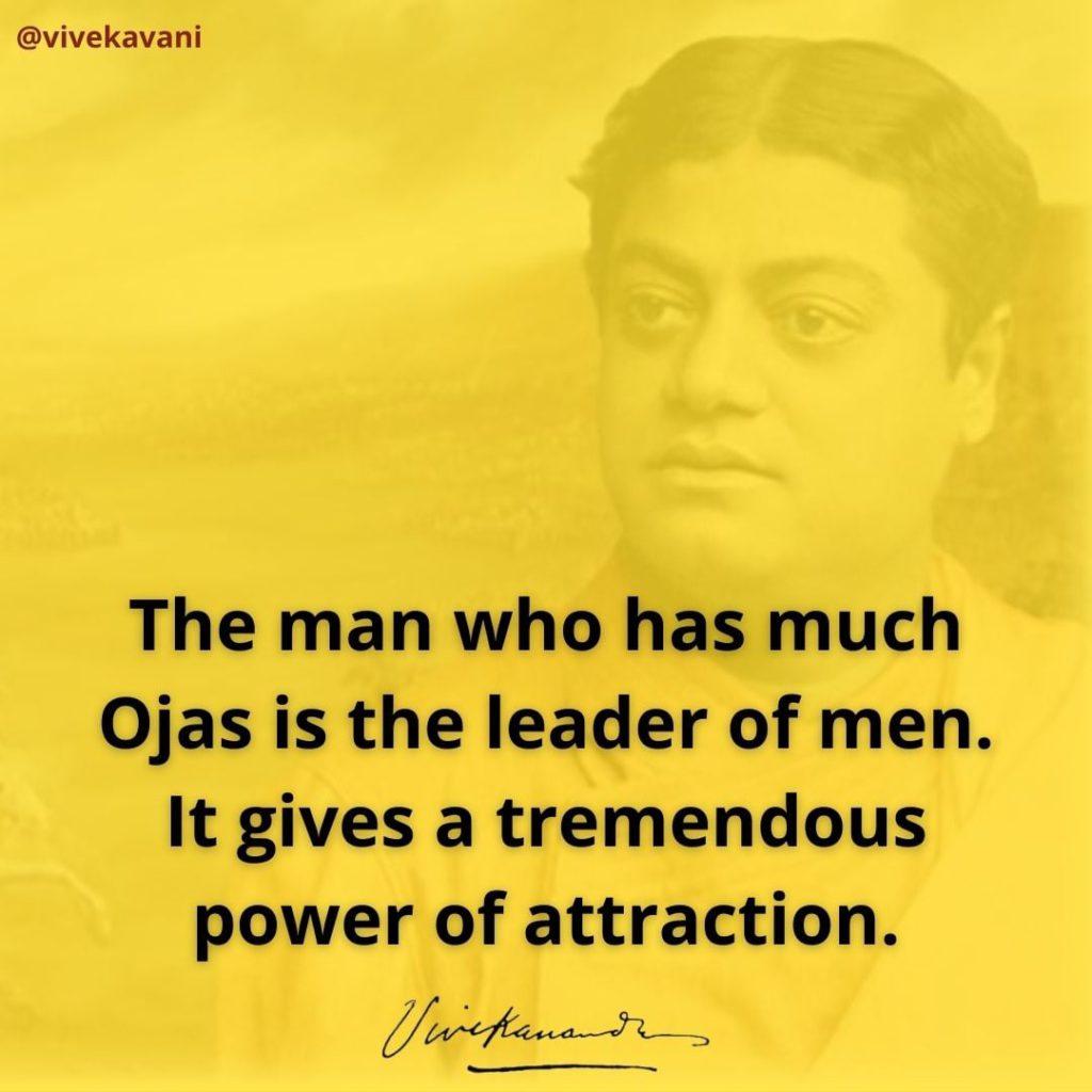 Swami Vivekananda on Ojas