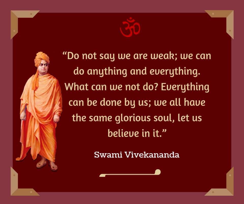 Swami Vivekananda on Weakness