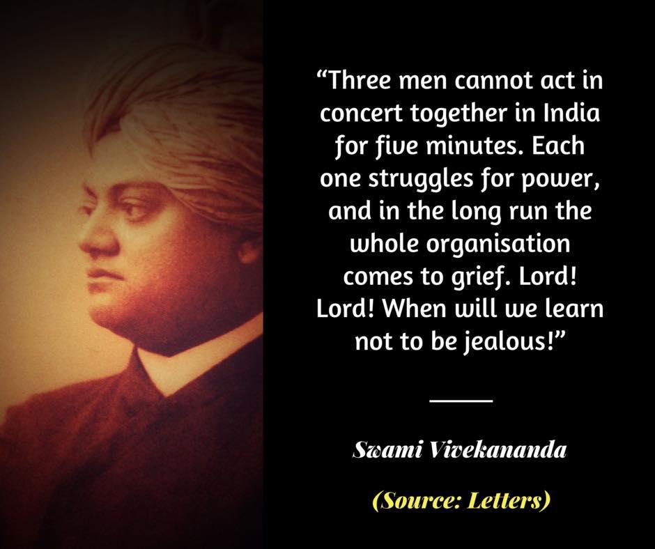 Swami Vivekananda on Jealousy