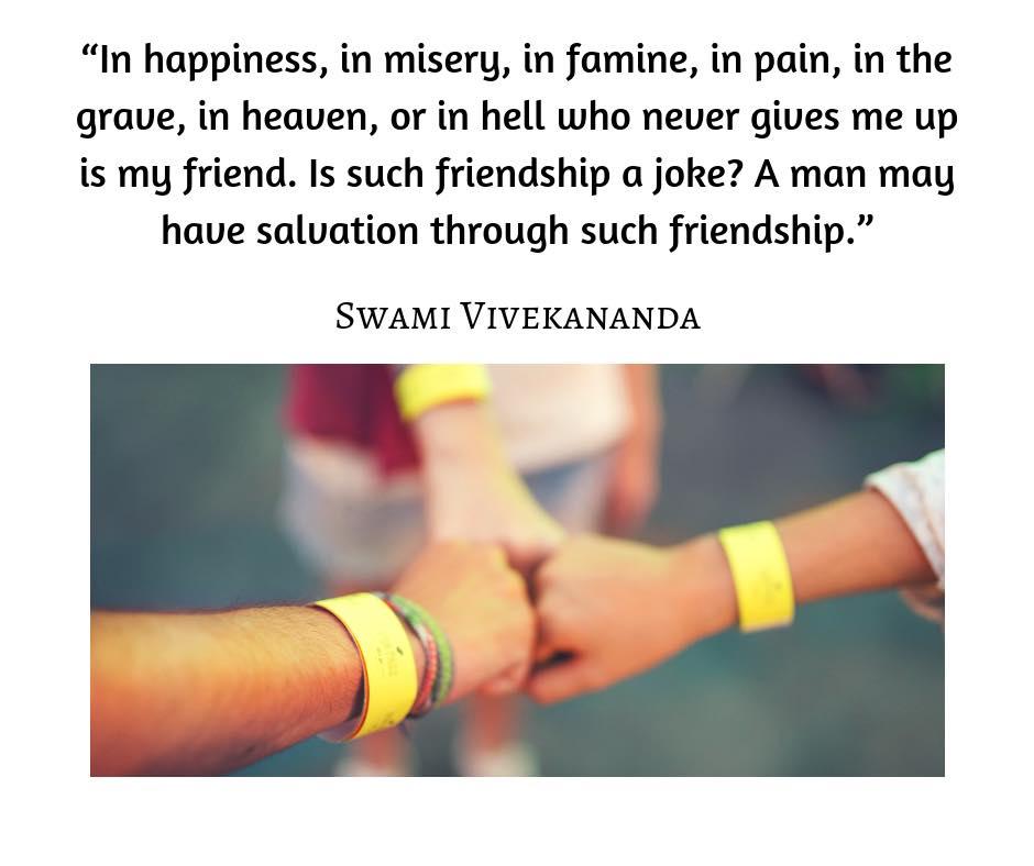 Swami Vivekananda on Friendship