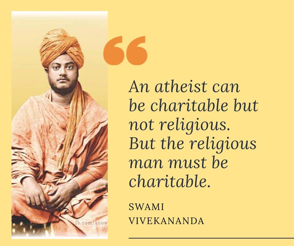 Swami Vivekananda on Charity