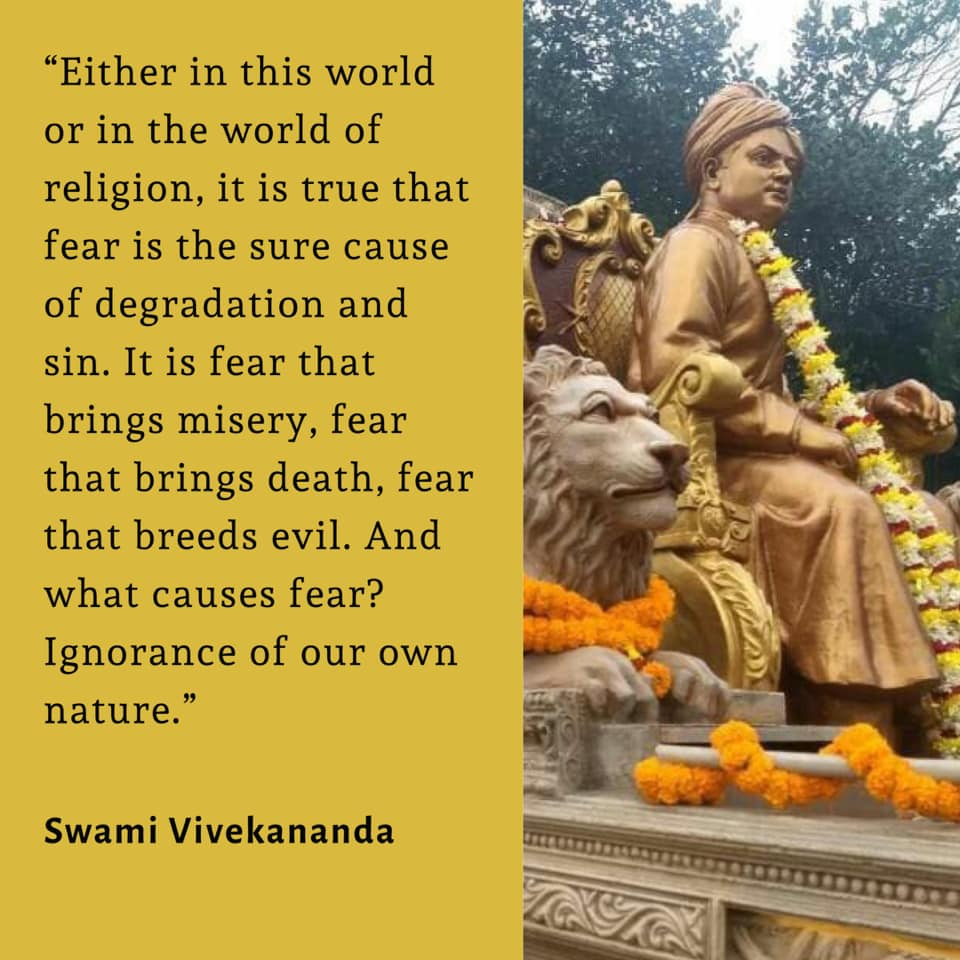 Swami Vivekananda's Quotes On Fear