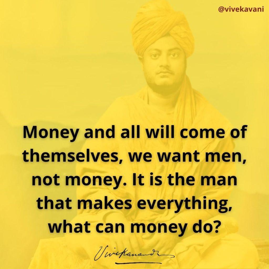 Swami Vivekananda's Quotes On Money