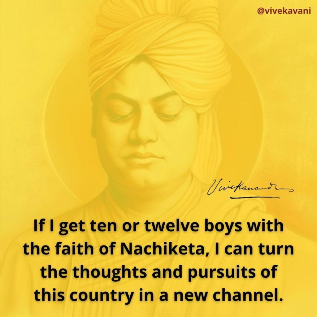 Swami Vivekananda's Quotes On Katha Upanishad And Nachiketa
