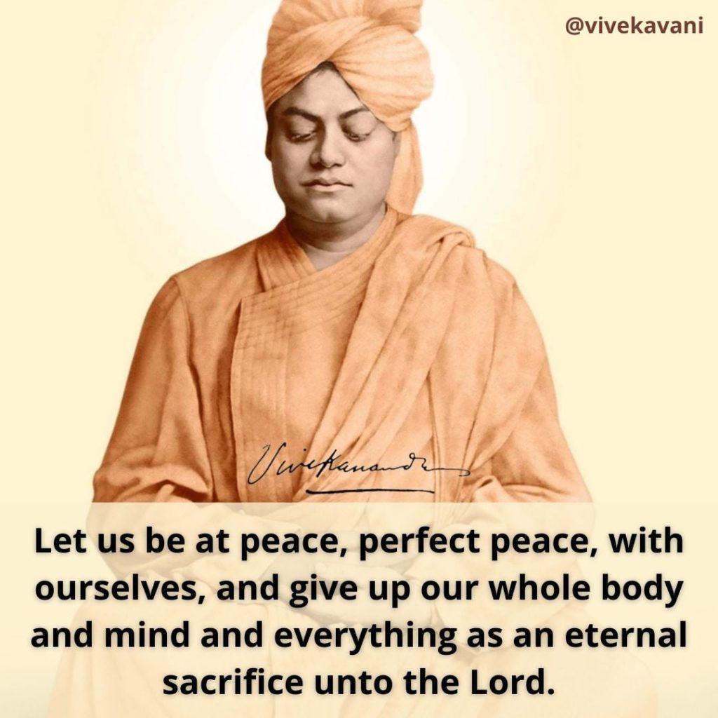 Swami Vivekananda's Quotes On Peace