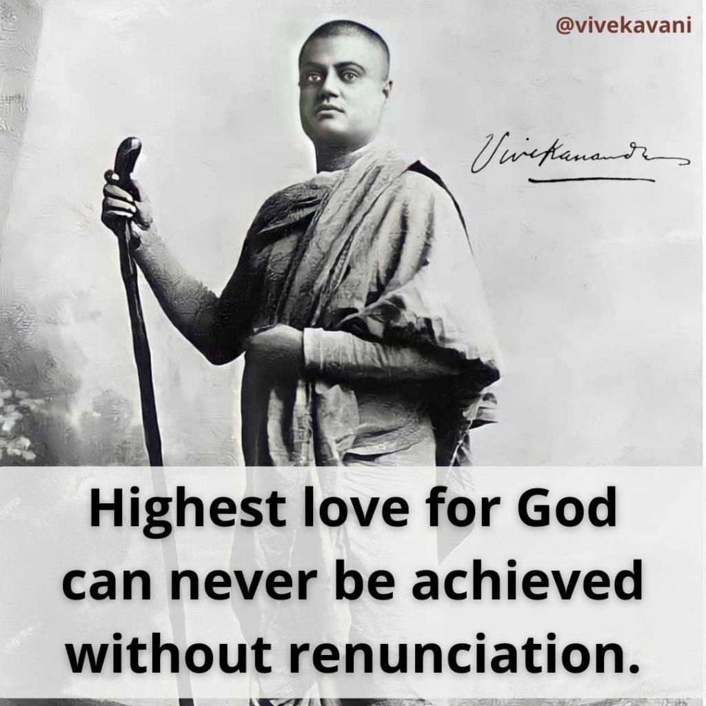 Swami Vivekananda's Quotes On Renunciation