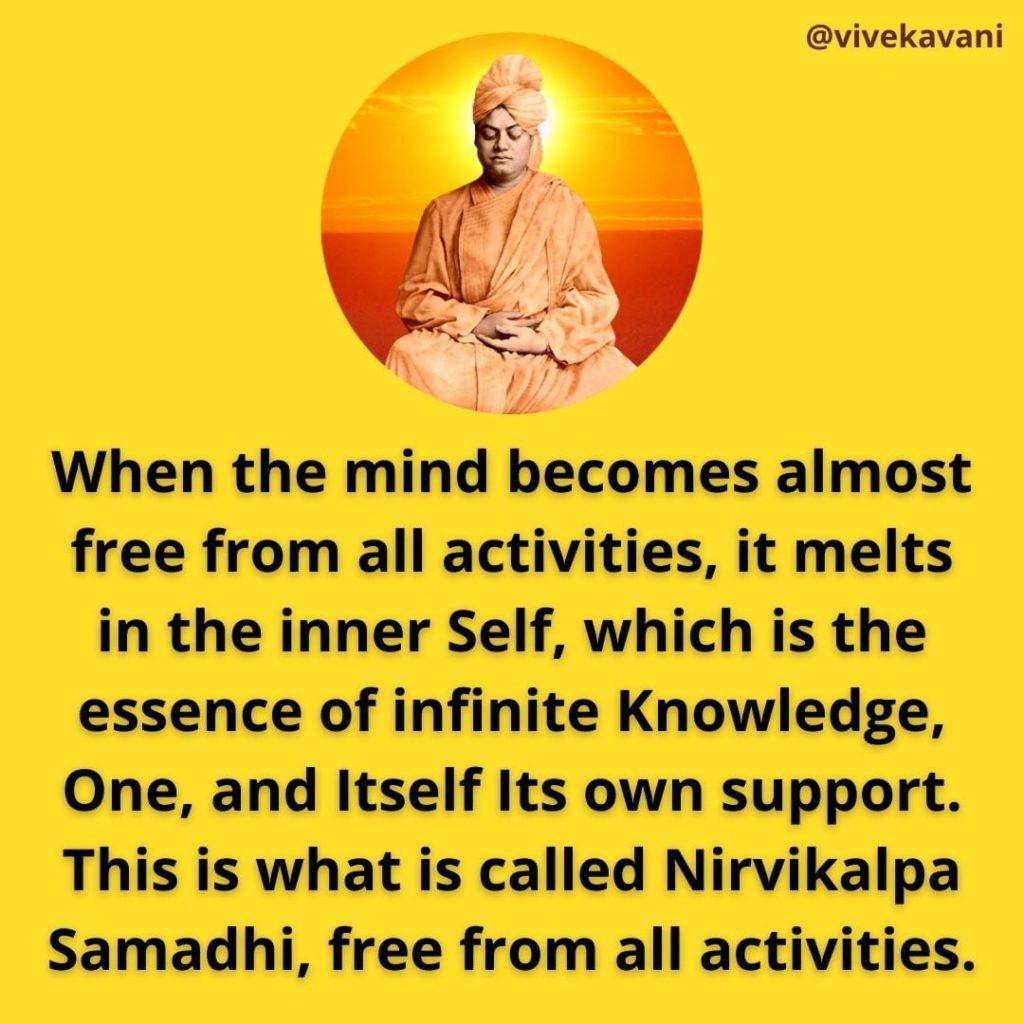 Swami Vivekananda On Nirvikalpa Samadhi